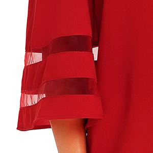 mesh panel loose blouse