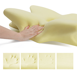 Show the feature of memory foam--slow rebound