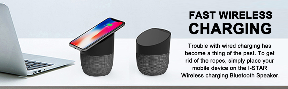 I-STAR 3 In 1 Wireless Charger Bluetooth Speaker