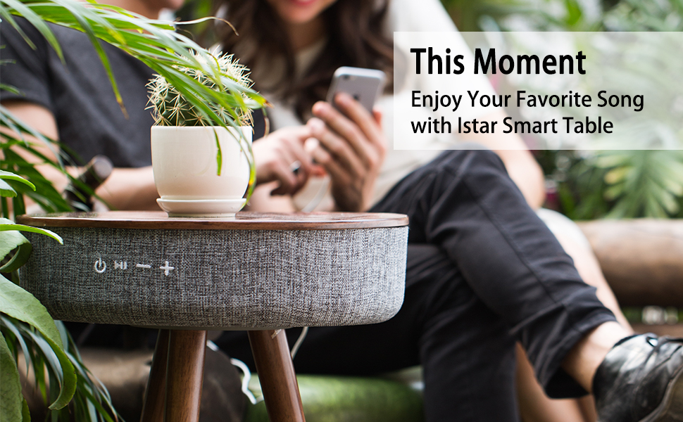 I-STAR Table Bluetooth Speaker with Wireless Charging