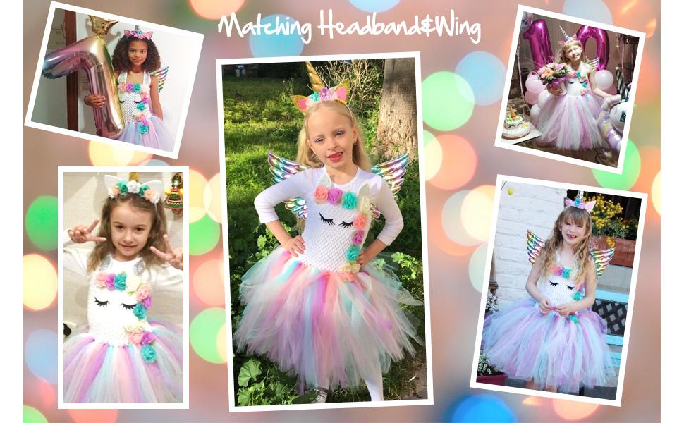 QPANCY girl  unicorn dress