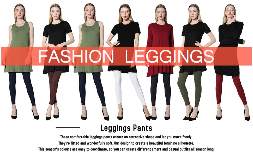 852f086cef8 Diravo Leggings for Women-Soft Stretch Leggings-Slimming Basic  Leggings,Regular&Plus Size