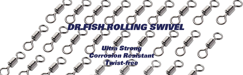 Dispatched from the UK 1//0 Rolling Barrel Fishing Swivels