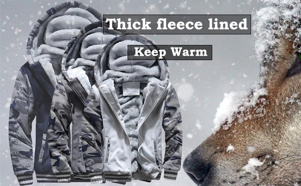 Men fleece hoodies jacket