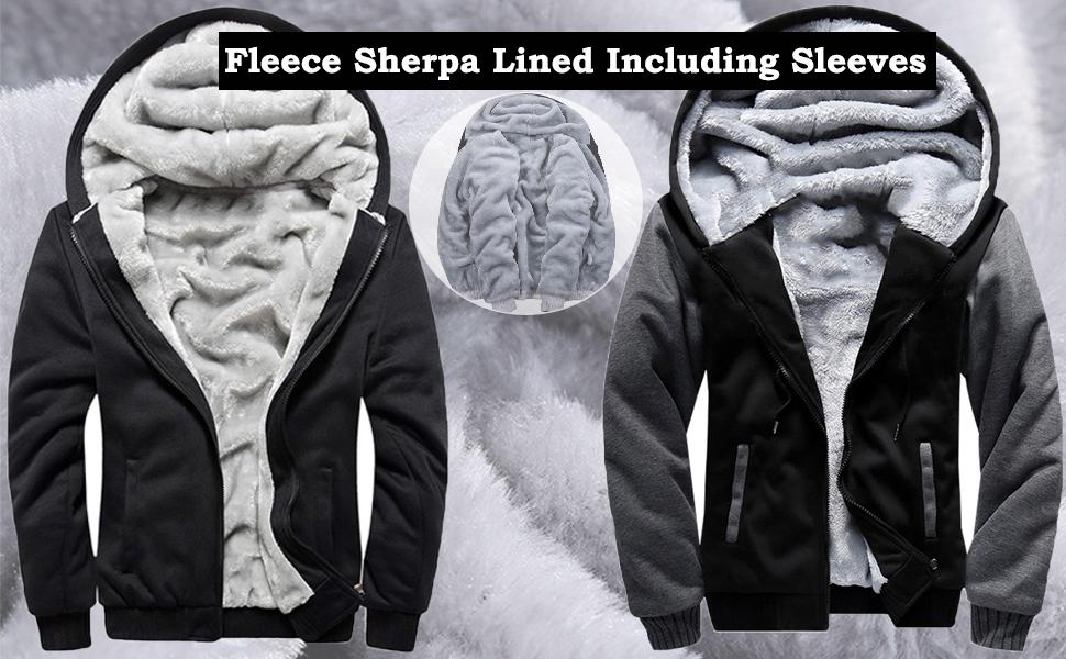winter for men fleece jacket hoodies