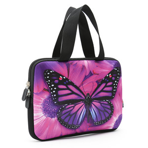 Customized Laptop Bag Native American Purple Butterfly 3D Print Laptop Cover Water Repellent Polyester Tablet Protective Bag for Dad Mom White 13inch