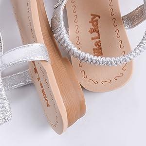 Elastic sandals for women
