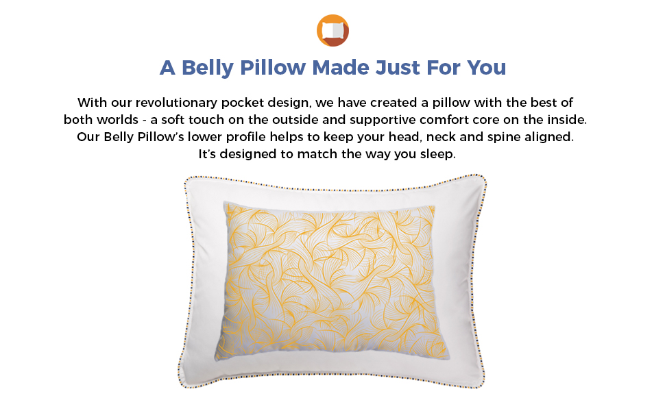 soft plush pillow stomach sleepers