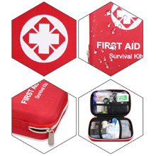 red first aid bag