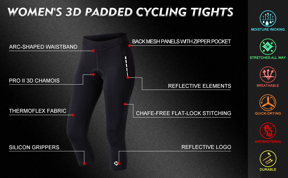 TEEGUI Bike Shorts Comfortable 3D Padded Bicycle Riding Pants Cycling Cushion Pants Tights for Women Men Pink