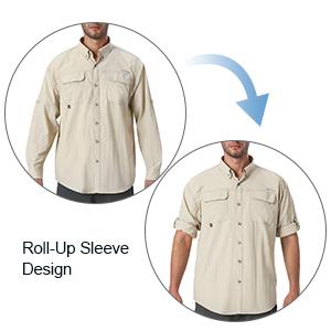 Men's UPF 50+ Sun Protection Outdoor Long Sleeve Shirt