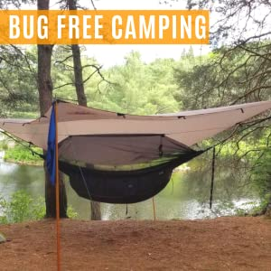 Everest Double Camping Hammock with Mosquito NetBug-Free Camping Backpacking