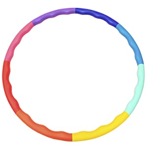 Sports Hoop weighted hula hoop for workout exercise fitness ab muscle training toning