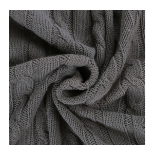 it is crafted with delicate cable knit design and to solve the cotton shrink problem our throw blanket has been preshrunk in the factory - Cable Knit Throw