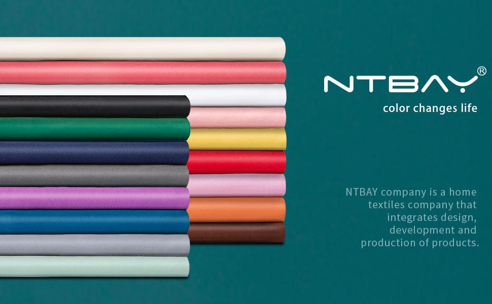 NTBAY Satin Pillowcases