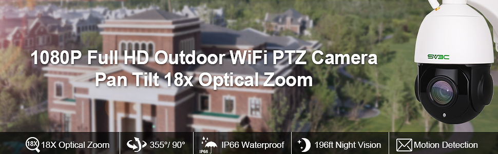 wifi outdoor ptz camera wireless pan titl zoom camera two way audio camera ip security cam ftp cam