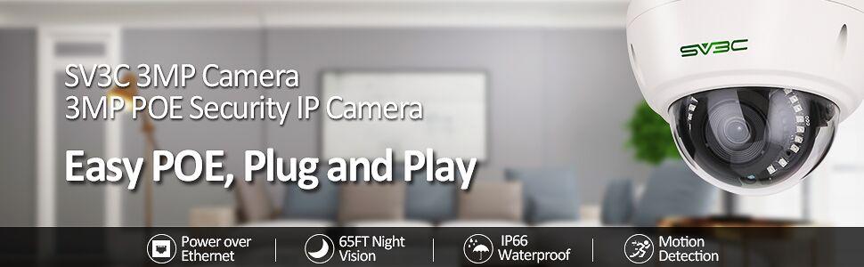 3mp poe camera indoor outdoor poe security camera dome camera outside security camera ip camera poe