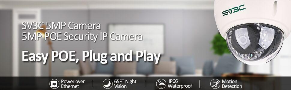 5mp poe camera indoor outdoor poe security camera dome camera dome security camera ip camera poe