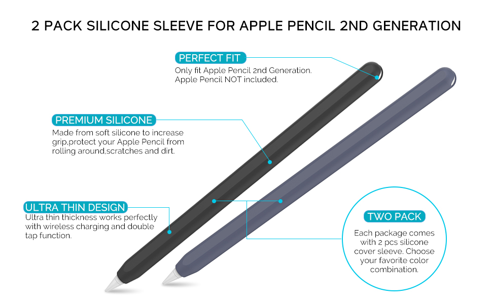silicone sleeve for Apple Pencil 2nd Generation