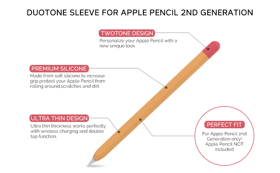 Silicone Case Sleeve for Apple Pencil 2nd Generation