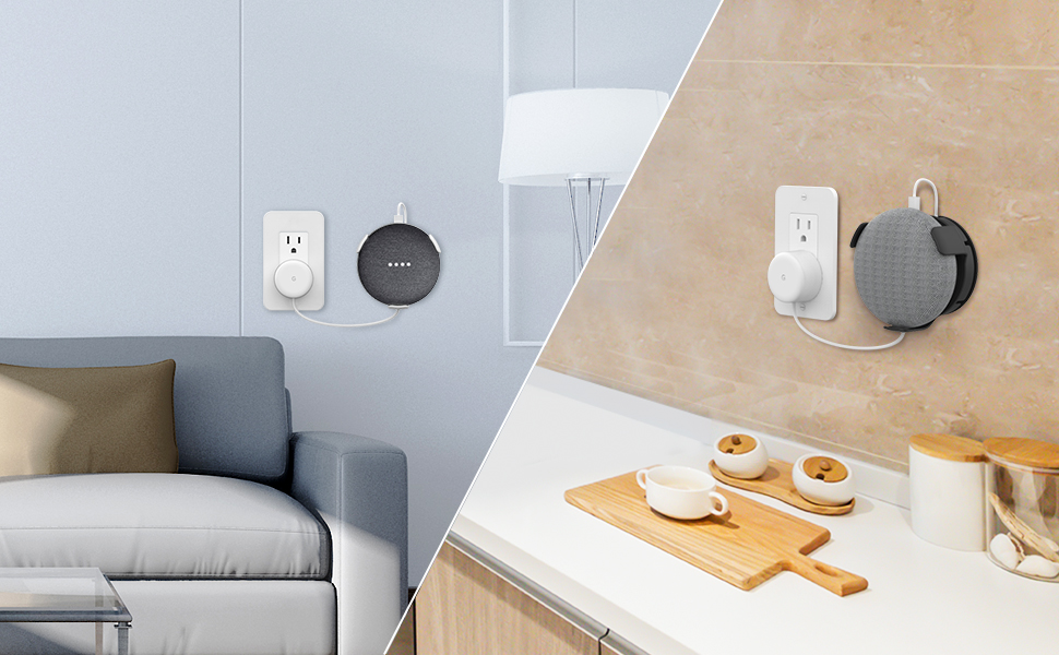 Google home mini wall mount holder grip