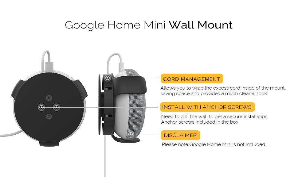 wall mount google homw mini speaker