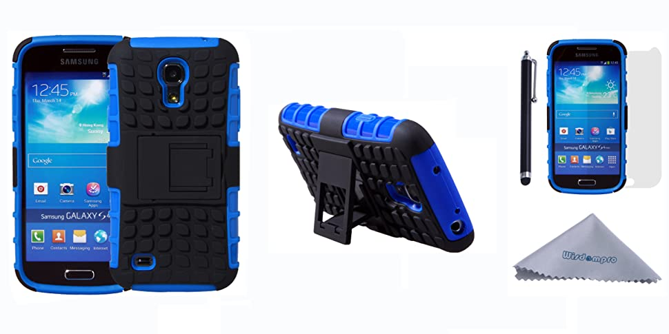 Amazon.com: S4 Mini caso, wisdompro [2 pieza en 1] Dual ...