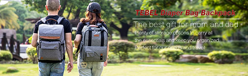 Amazon.com   TEBEL Baby Diaper Bag Backpack Multi-functional with ... e5fcaa74e83a3