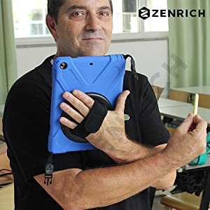 ZenRich iPad case with strap