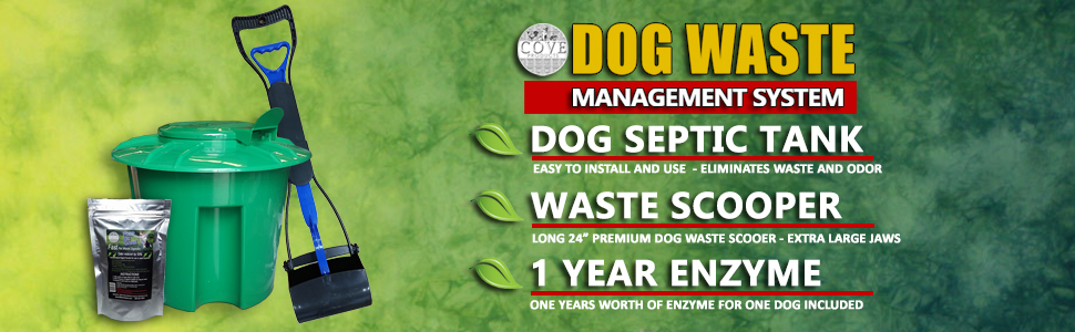 Cove Products K9 Kennels Dog Pet Waste Management System