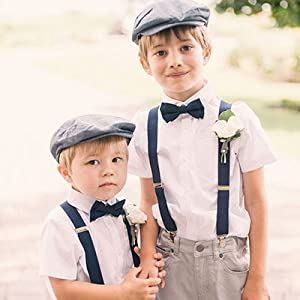 brothers suspenders bow tie
