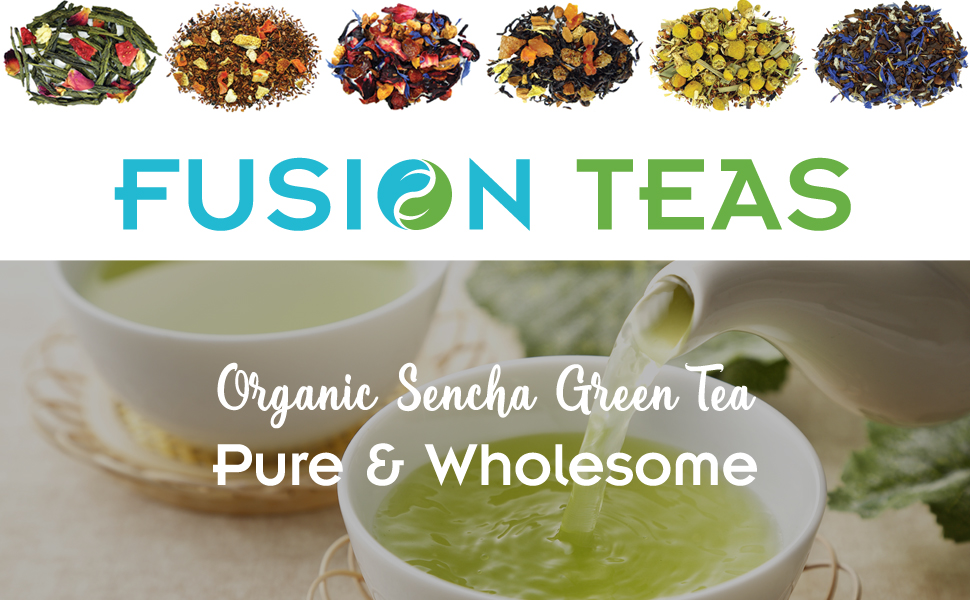 Organic Sencha Green Tea Banner - Fusion Teas
