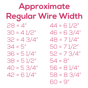 Porcelynne Heavy Gauge Nylon Coated Regular Metal Replacement Wire//Underwire for Bras 40C 38D Size 42-10 Pairs 34F DD 44A 36E 42B DDD