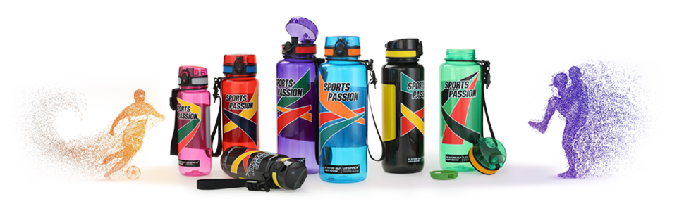 uzspace sports water bottle series