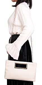 Aitbags Clutch Purses for Women Evening Party Handbags for Wedding Tote with Chain Strap
