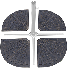 This Sundale Outdoor Resin Umbrella Base Is A Fantastic Way To Help You  Enjoy Your Offset Or Cantilever Patio Umbrella Better By Weighing Down The  Cross ...