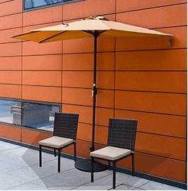Small Patio Or Space Limitation? This Sundale Outdoor Half Patio Umbrella  Is A Space Efficient And Durable Half Canopy Umbrella, Is Ideal For  Decorating ...