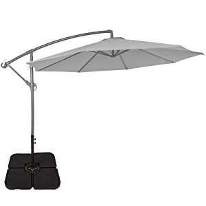cantilever umbrella base stand is a fantastic way to help you enjoy your offset or cantilever patio umbrella better by weighing down the cross