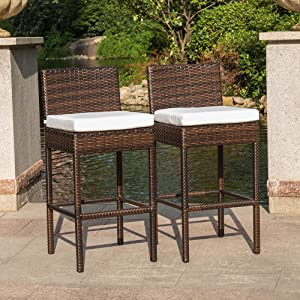 If You Are Looking For A Sophisticated Bar Stool To Showcase Your Modern  Sensibilities, Then Let Us Take A Quick Look At This. Sundale Outdoor 2 Pcs  Brown ...