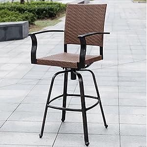 outdoor wicker bar stool with stool amazing outdoor patio ba