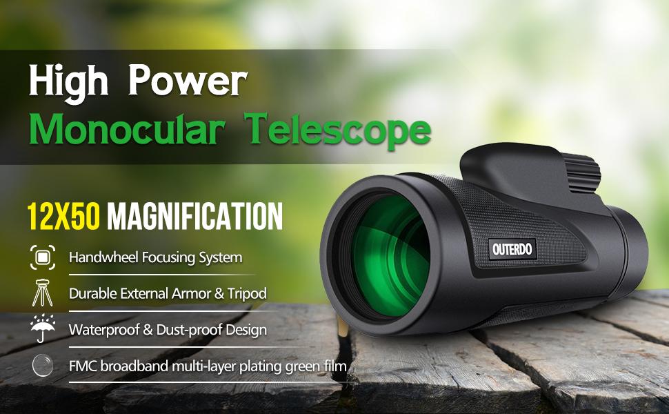 Amazon monocular telescope outerdo new high power