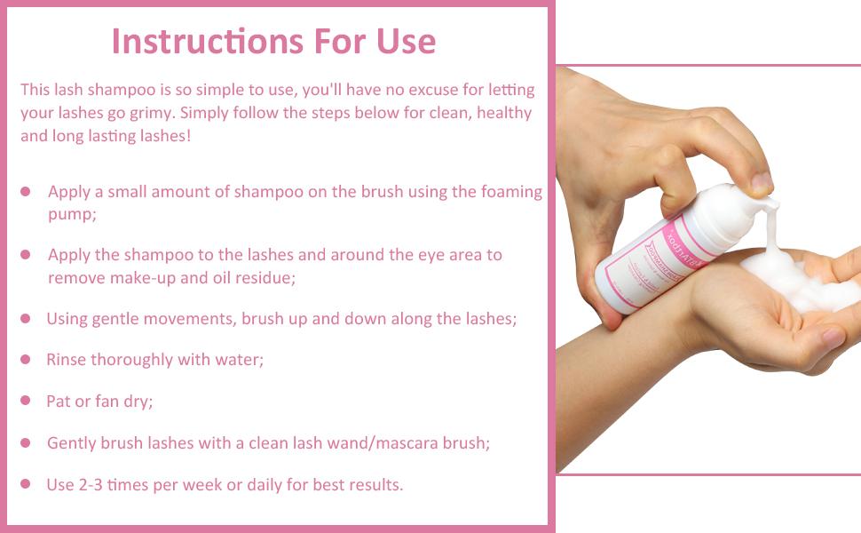 eyelash shampoo