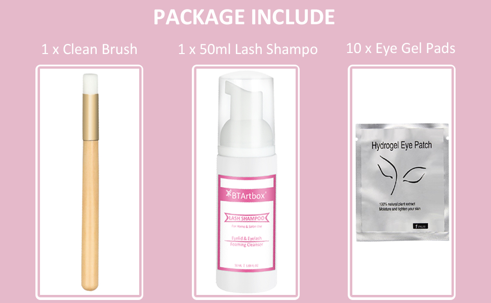 eyelash extension shampoo