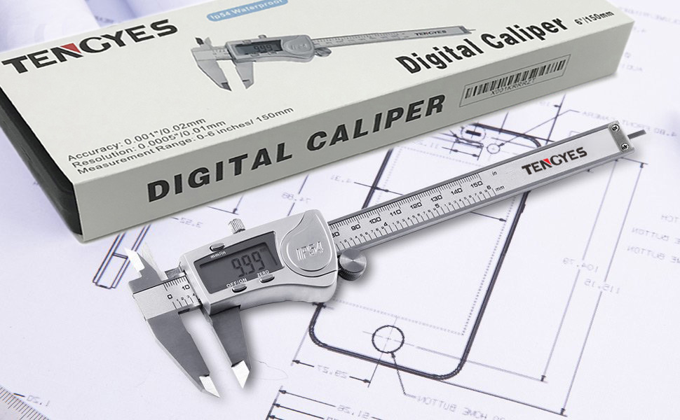 Calipers 6 0-150mm Large Lcd Smooth-gliding Durable Stainless Steel Digital Caliper Electronic Vernier Caliper Measuring Tool With Box Various Styles