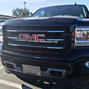 Ijdmtoy Behind Grille Mount 30 Inch Led Light Bar Kit For 2014 18 Gmc Sierra 1500 2500 3500 Hd Includes 1 150w Cree Led Lightbar Mesh Grill