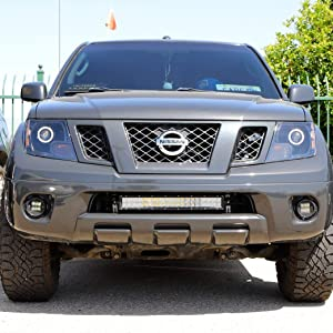 amazon com ijdmtoy lower grille 20 inch led light bar kit compatible with 2004 18 nissan frontier includes 1 120w led lightbar lower bumper opening mounting brackets on off switch wiring kit automotive ijdmtoy lower grille 20 inch led light bar kit compatible with 2004 18 nissan frontier includes 1 120w led lightbar lower bumper opening mounting