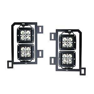 Ijdmtoy Dual Led Pod Light Fog Lamp Kit For 2013 18 Dodge
