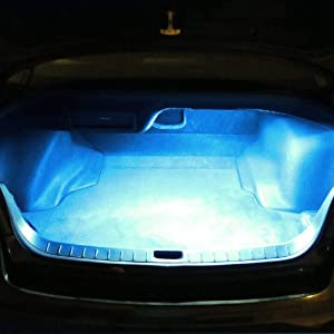 Ice Blue 18-SMD-5050 LED Strip Light For Car Trunk Cargo Area or Interior Illumination