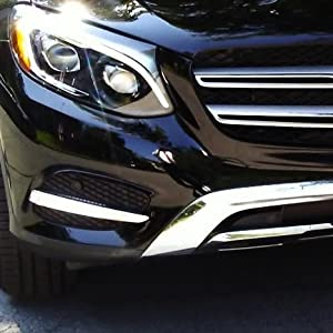 Replace Lower Bumper Bezel//Grille Covers Xenon White Continuous LED Lighting iJDMTOY Direct Fit LED Daytime Running Light Kit For 2016-up Mercedes X205 GLC-Class