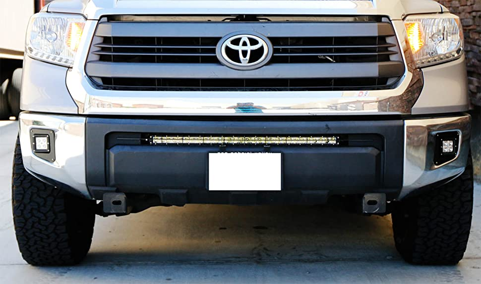 Amazon Com  Ijdmtoy 30 U0026quot  150w High Power Cree Led Light Bar With Lower Bumper Insert Mounting